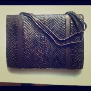 French vintage snakeskin purse